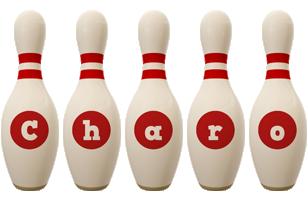 Charo bowling-pin logo