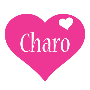 Charo love-heart logo
