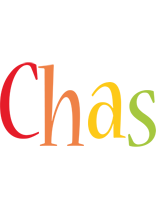 Chas birthday logo