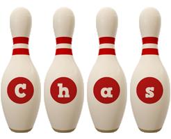 Chas bowling-pin logo