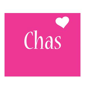 Chas love-heart logo