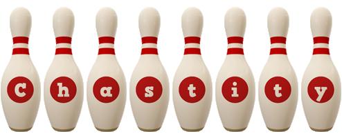Chastity bowling-pin logo