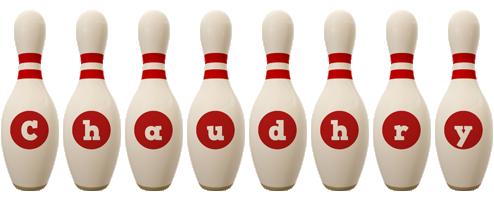 Chaudhry bowling-pin logo