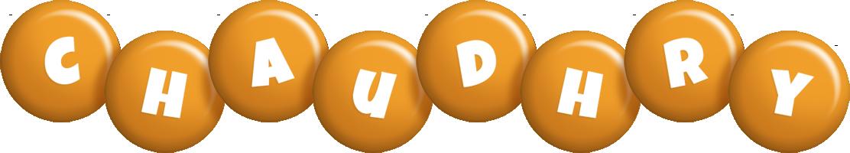 Chaudhry candy-orange logo
