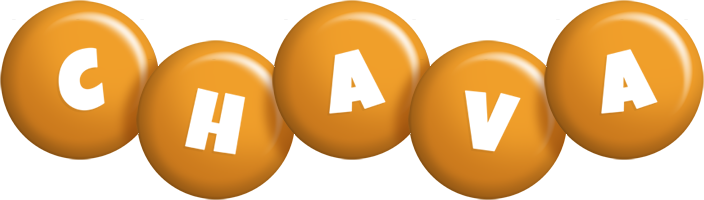 Chava candy-orange logo