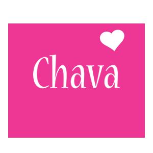 Chava love-heart logo