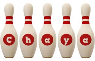 Chaya bowling-pin logo