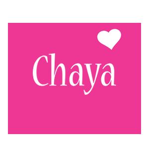 Chaya love-heart logo