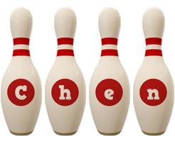 Chen bowling-pin logo