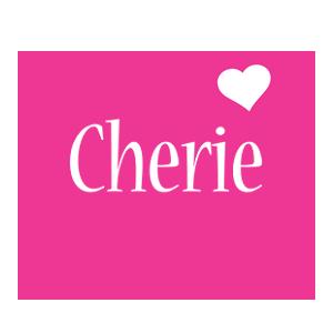 Cherie love-heart logo