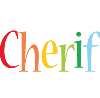 Cherif birthday logo