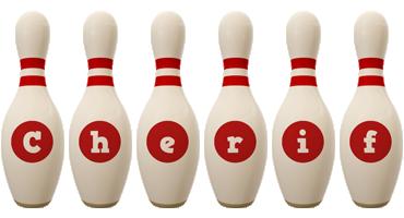 Cherif bowling-pin logo