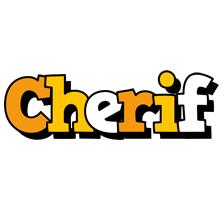 Cherif cartoon logo