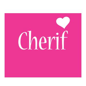 Cherif love-heart logo