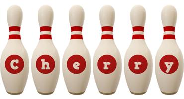 Cherry bowling-pin logo