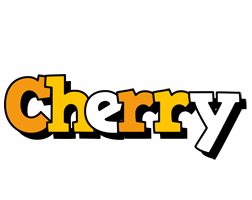 Cherry cartoon logo