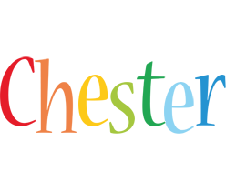 Chester birthday logo