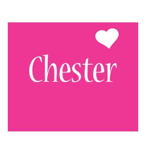 Chester love-heart logo
