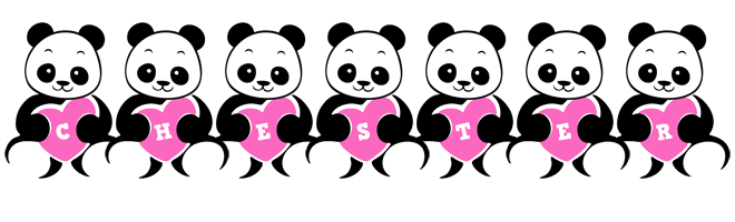 Chester love-panda logo