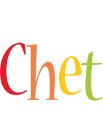 Chet birthday logo