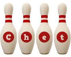 Chet bowling-pin logo