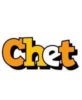 Chet cartoon logo