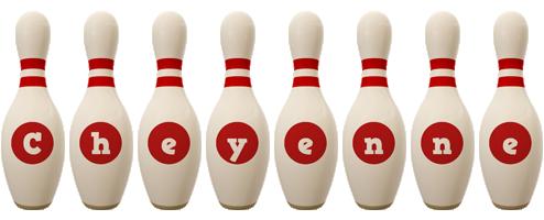 Cheyenne bowling-pin logo