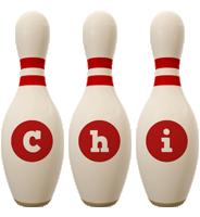Chi bowling-pin logo
