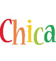 Chica birthday logo