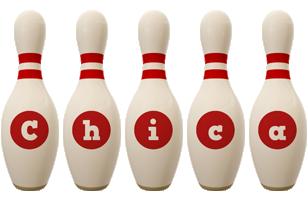 Chica bowling-pin logo