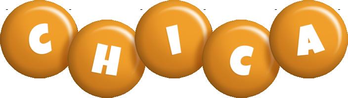 Chica candy-orange logo