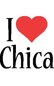 Chica i-love logo