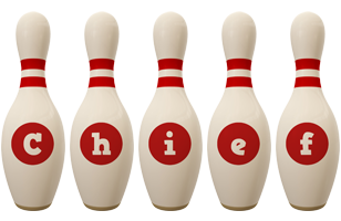 Chief bowling-pin logo