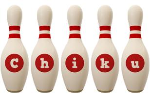 Chiku bowling-pin logo