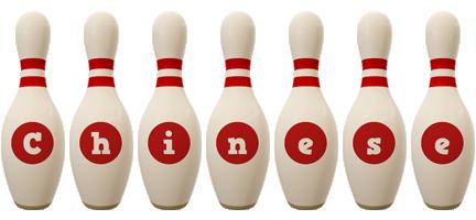 Chinese bowling-pin logo