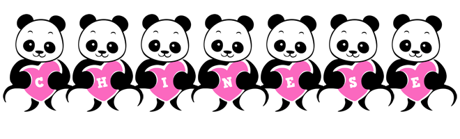 Chinese love-panda logo
