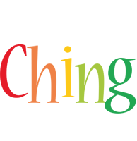 Ching birthday logo