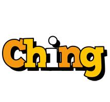 Ching cartoon logo