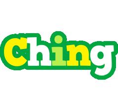 Ching soccer logo