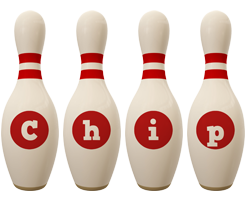 Chip bowling-pin logo
