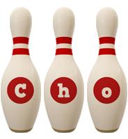 Cho bowling-pin logo