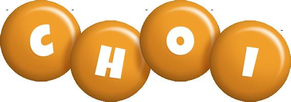 Choi candy-orange logo