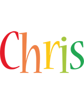 Chris birthday logo