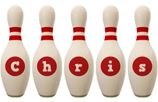 Chris bowling-pin logo