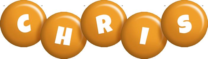 Chris candy-orange logo
