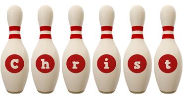 Christ bowling-pin logo