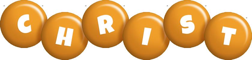 Christ candy-orange logo