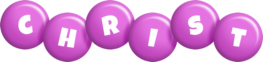 Christ candy-purple logo