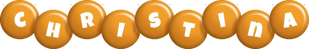 Christina candy-orange logo