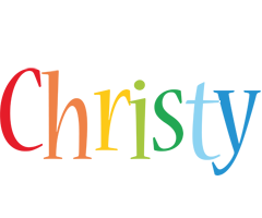 Christy birthday logo